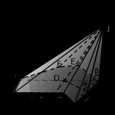 Пример наклонной пирамиди