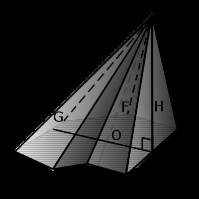 Пример прямоугольной пирамиды