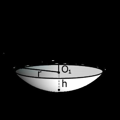 Сегмент шара с обозначениями